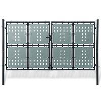 Čierna dvojkrídlová ozdobná bránka 300 x 225 cm
