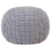 vidaXL Taburetka spletaný dizajn sivá 50x35 cm bavlna