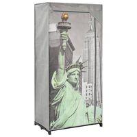 vidaXL Šatník dizajn mesta New York 75x45x160 cm látkový