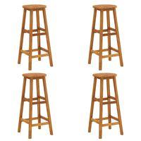 vidaXL Barové stoličky 4 ks akáciový masív