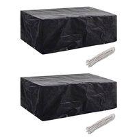 vidaXL Ochranné obaly na záhradný nábytok 2 ks 200x160x70cm 8 očiek