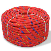 vidaXL Lodné polypropylénové lano 8 mm 500 m červené