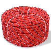 vidaXL Lodné lano, polypropylén, 14 mm, 50 m, červené