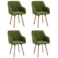 vidaXL Jedálenské stoličky 4 ks, zelené, látka