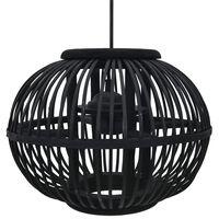 vidaXL Závesné svietidlo čierne vŕba 40 W 30x22 cm kruhové E27