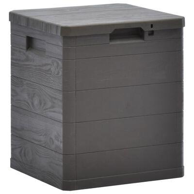 vidaXL Záhradný úložný box hnedý 90 l