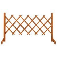 vidaXL Záhradný mriežkový plot oranžový 120x60 cm masívne jedľové drevo