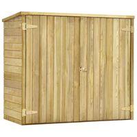 vidaXL Záhradná kôlňa na náradie 135x60x123 cm impregnované borovicové drevo