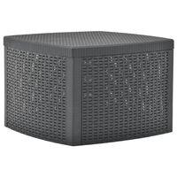 vidaXL Príručný stolík, antracitový 54x54x36,5 cm, plast