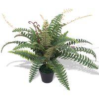 vidaXL Umelá rastlina, papraď s kvetináčom 60 cm, zelená