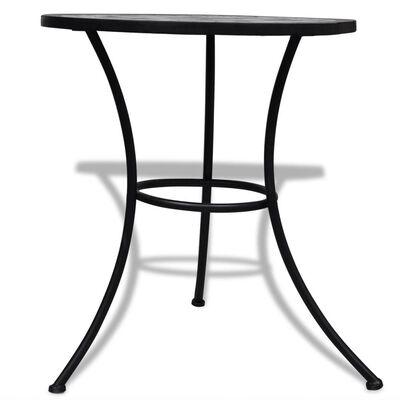 vidaXL Bistro stolík, čierno biely 60 cm, mozaikový