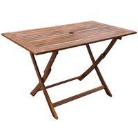 vidaXL Záhradný stôl 120x70x75 cm, akáciový masív