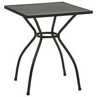 vidaXL Bistro stolík 60x60x70 cm, oceľová sieťovina