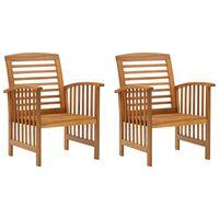 vidaXL Záhradné stoličky 2 ks akáciový masív