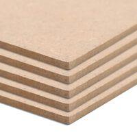 vidaXL Drevotrieskové dosky 20 ks štvorcové 60x60 cm 2,5 mm