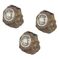 """Luxform Záhradné solárne LED kamenné svetlá """"Andes"""" 3 ks"""
