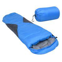 vidaXL Ľahký detský spací vak modrý 670 g 10°C