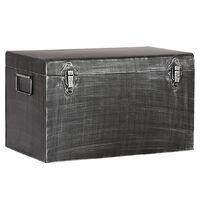 LABEL51 Úložný box Vintage 30x15x20 cm S starožitný čierny