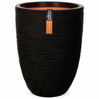 Capi Váza elegantná nízka čierna 46x58 cm KBLR783 Nature Rib