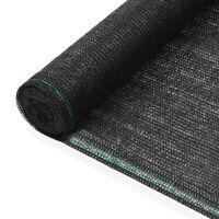 vidaXL Zástena na tenisový kurt, HDPE 2x25 m, čierna