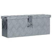 vidaXL Hliníková bednička 48,5x14x20 cm strieborná