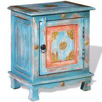 vidaXL Nočný stolík, masívne mangovníkové drevo, modrý