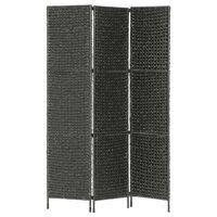 vidaXL 4-panelový paraván čierny 154 x 160 cm vodný hyacint