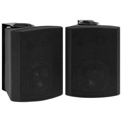 vidaXL Nástenné stereo reproduktory do interiéru a exteriéru 2 ks čierne 100 W