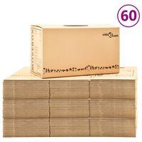 vidaXL Kartónové krabice na sťahovanie XXL 60 ks 60x33x34 cm