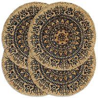 vidaXL Prestierania 4 ks tmavomodré 38 cm jutové okrúhle