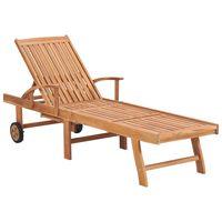 vidaXL Záhradné ležadlo masívne teakové drevo