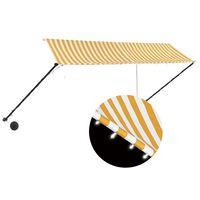 vidaXL Zaťahovacia markíza s LED 350x150 cm žlto-biela