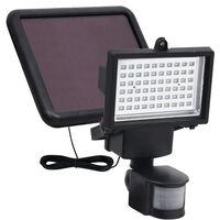 vidaXL Záhradné solárne bodové LED svetlo so senzorom čierne