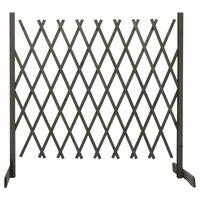 vidaXL Záhradný mriežkový plot sivý 180x100 cm masívne jedľové drevo