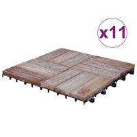 vidaXL Podlahové dlaždice 11 ks, 30x30 cm, recyklovaný masív