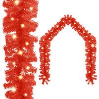vidaXL Vianočná girlanda s LED svetielkami 5 m červená