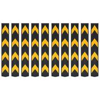 vidaXL Reflexné rohové chrániče 10 ks guma 80 cm