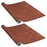 vidaXL Samolepiace tapety na dvere 2 ks akácia 210x90 cm PVC