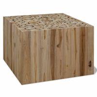 vidaXL Konferenčný stolík, pravé teakové drevo, 50x50x35 cm