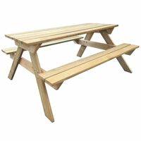 vidaXL Piknikový stôl 150x135x71,5 cm, drevo