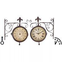 Esschert Design Nástenné hodiny s teplomerom TF005