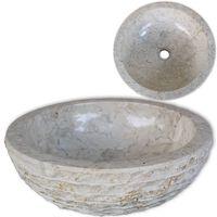 vidaXL Umývadlo, mramor 40 cm, krémové