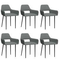 vidaXL Jedálenské stoličky 6 ks, svetlosivé, látka