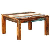 vidaXL Konferenčný stolík, štvorcový, recyklované drevo