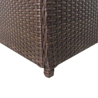 vidaXL Záhradný úložný box hnedý 120x50x60 cm polyratanový