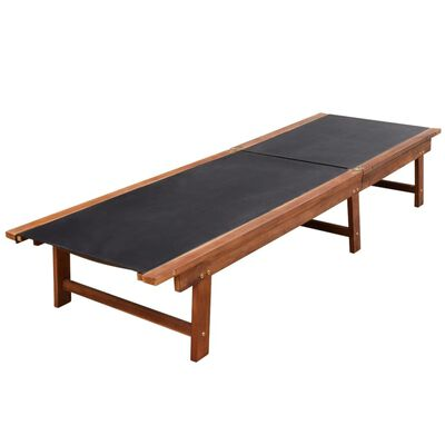 vidaXL Záhradné ležadlo, akáciový masív a textilén