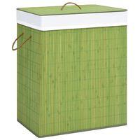 vidaXL Bambusový kôš na bielizeň, zelený 83 l