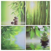 vidaXL Sada nástenných obrazov na plátne Nature rôznofarebná 80x80 cm