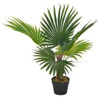 vidaXL Umelá rastlina palma s kvetináčom zelená 70 cm