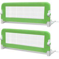 vidaXL Detská bezpečnostná zábrana na postieľku 2 ks zelená 102x42 cm